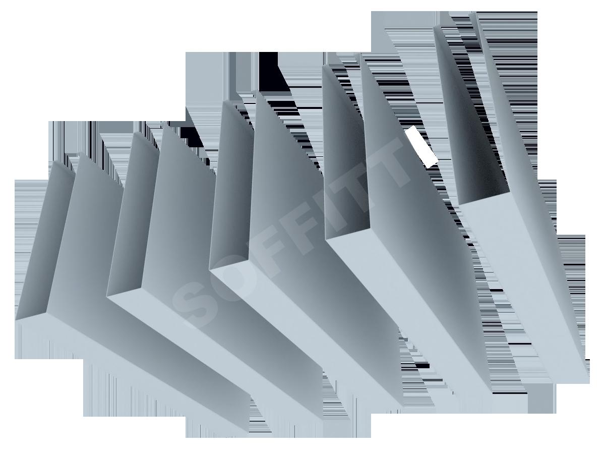 """Кубообразная рейка """"Сканди"""" 30x150 мм"""