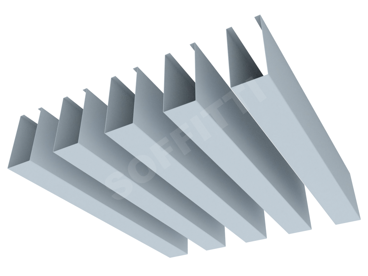 """Кубообразная рейка """"Сканди"""" 30x63 мм"""