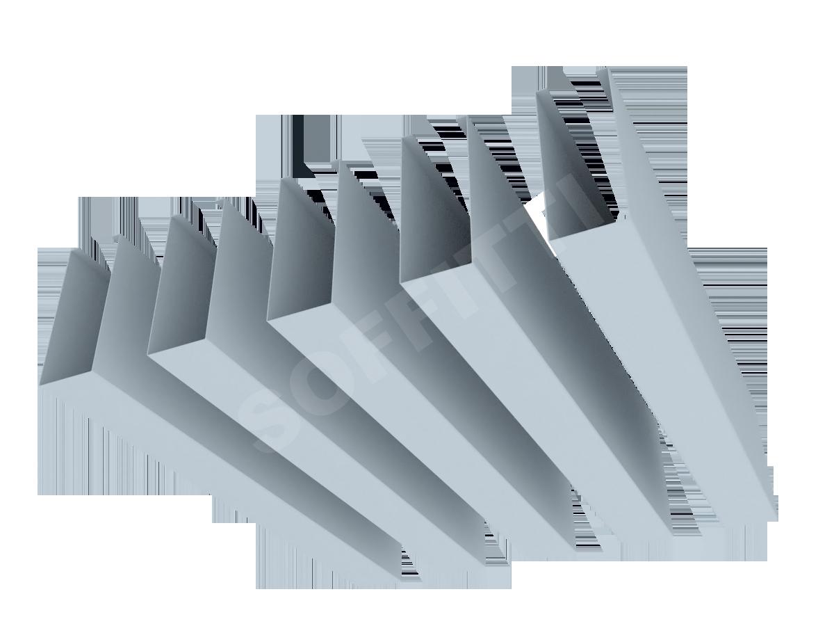 """Кубообразная рейка """"Сканди"""" 30x75 мм"""