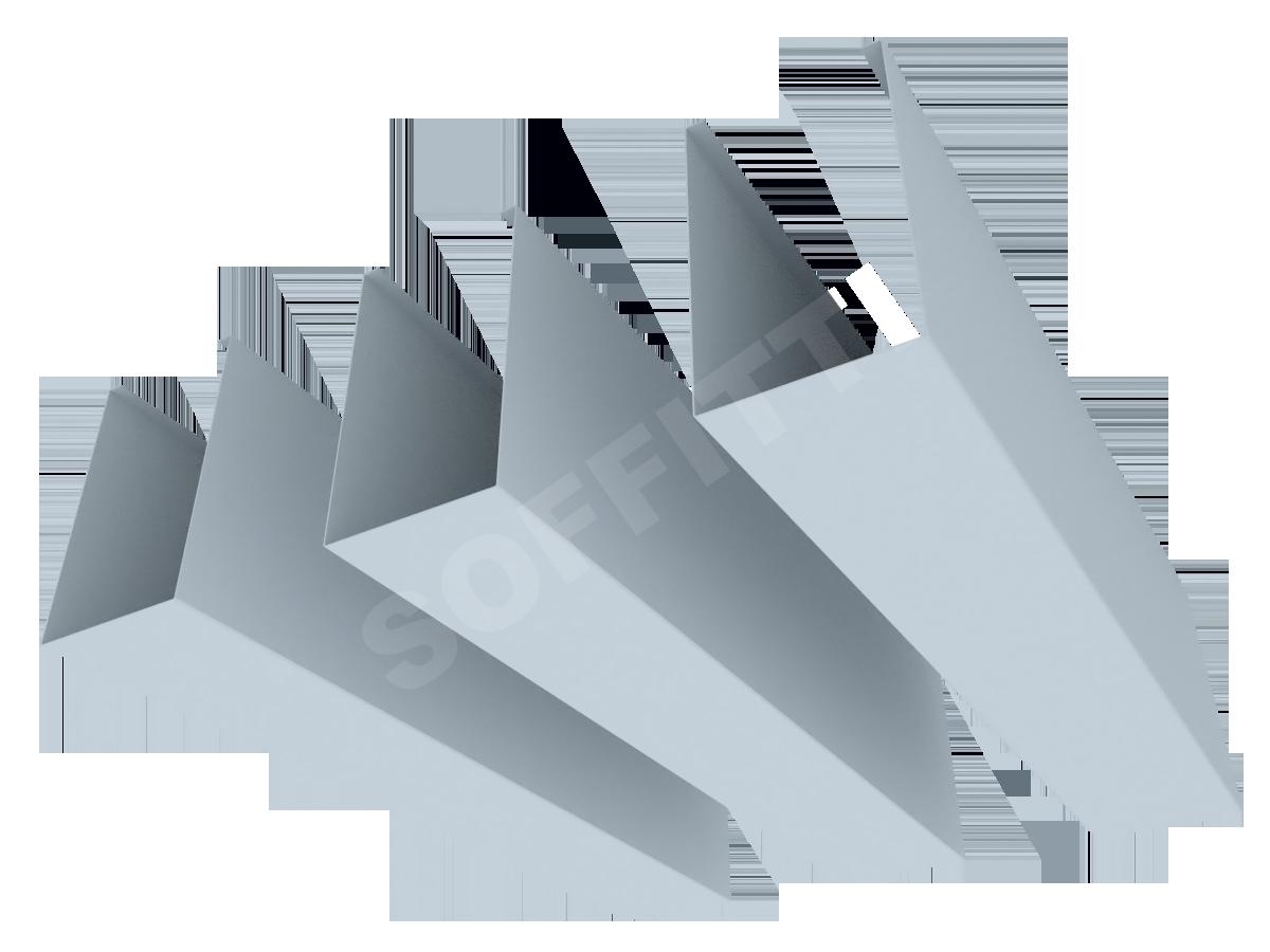 "Кубообразная рейка ""Униформ"" 50x85 мм"