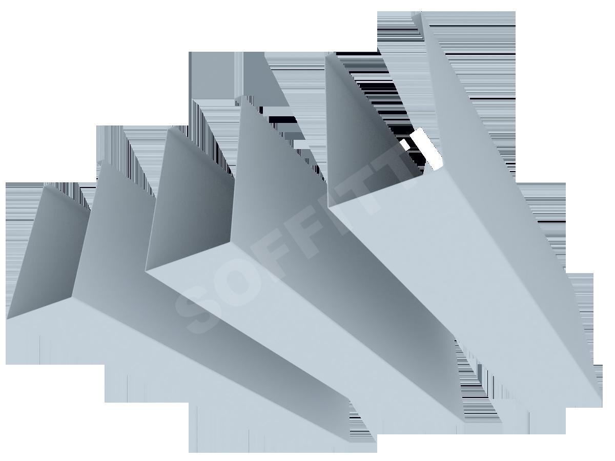 """Кубообразная рейка """"Сканди"""" 50x90 мм"""
