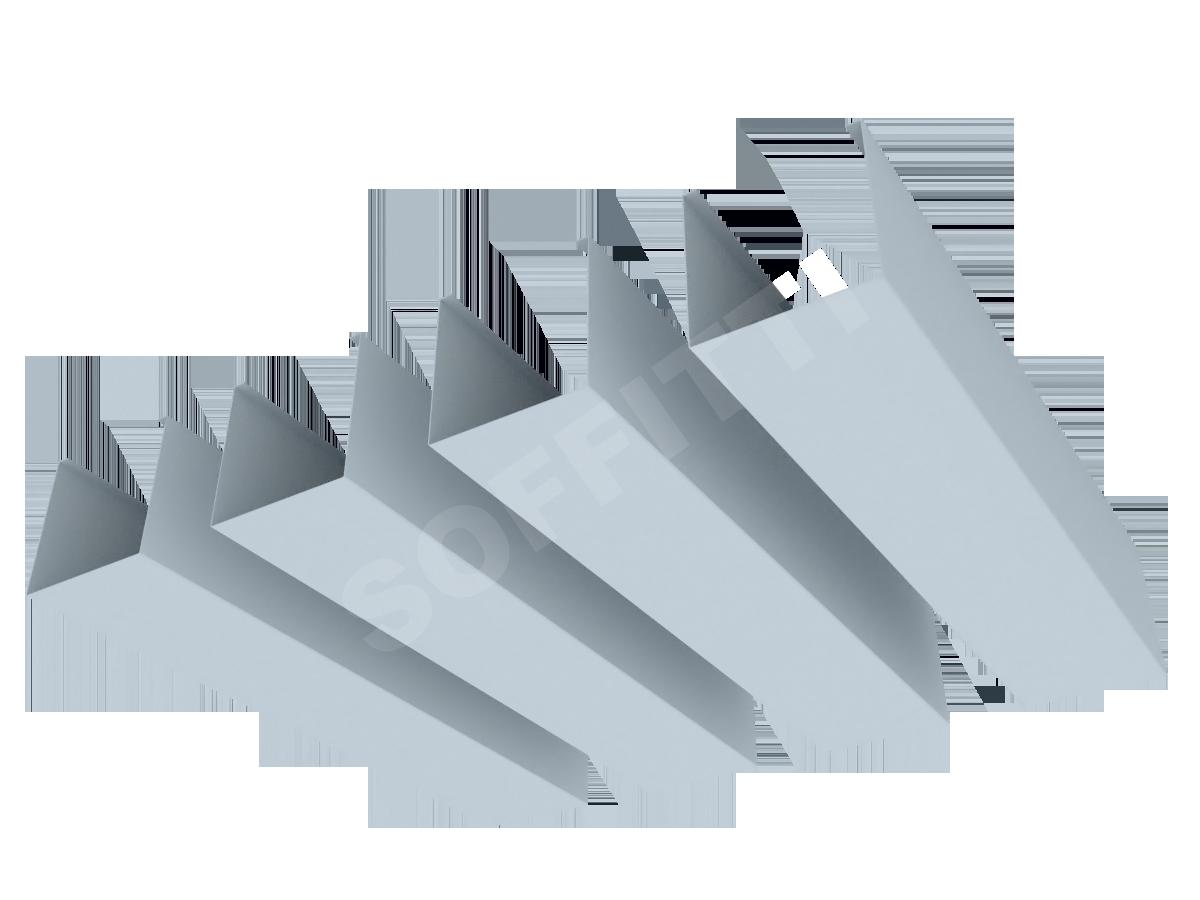 """Кубообразная рейка """"Сканди"""" 60x60 мм"""