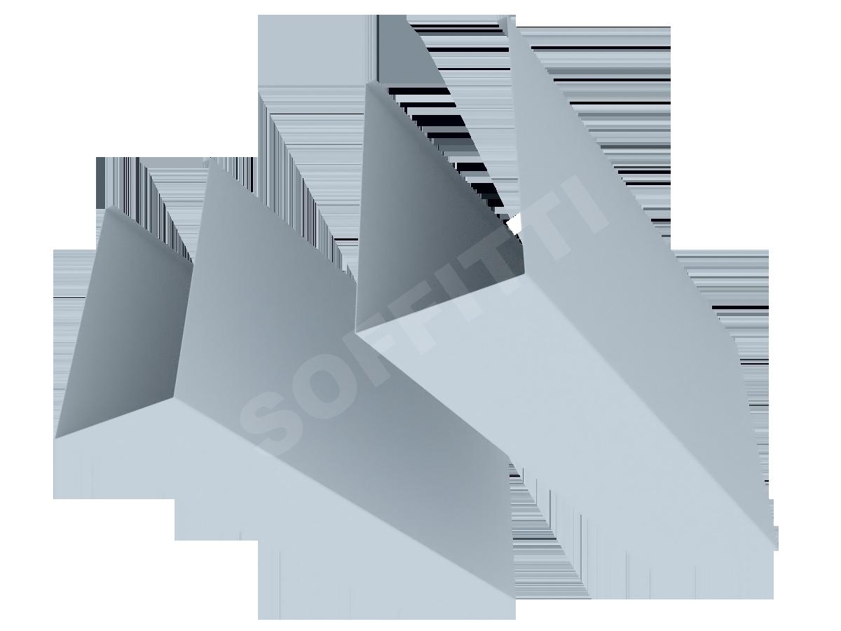 """Кубообразная рейка """"Сканди"""" 70x130 мм"""
