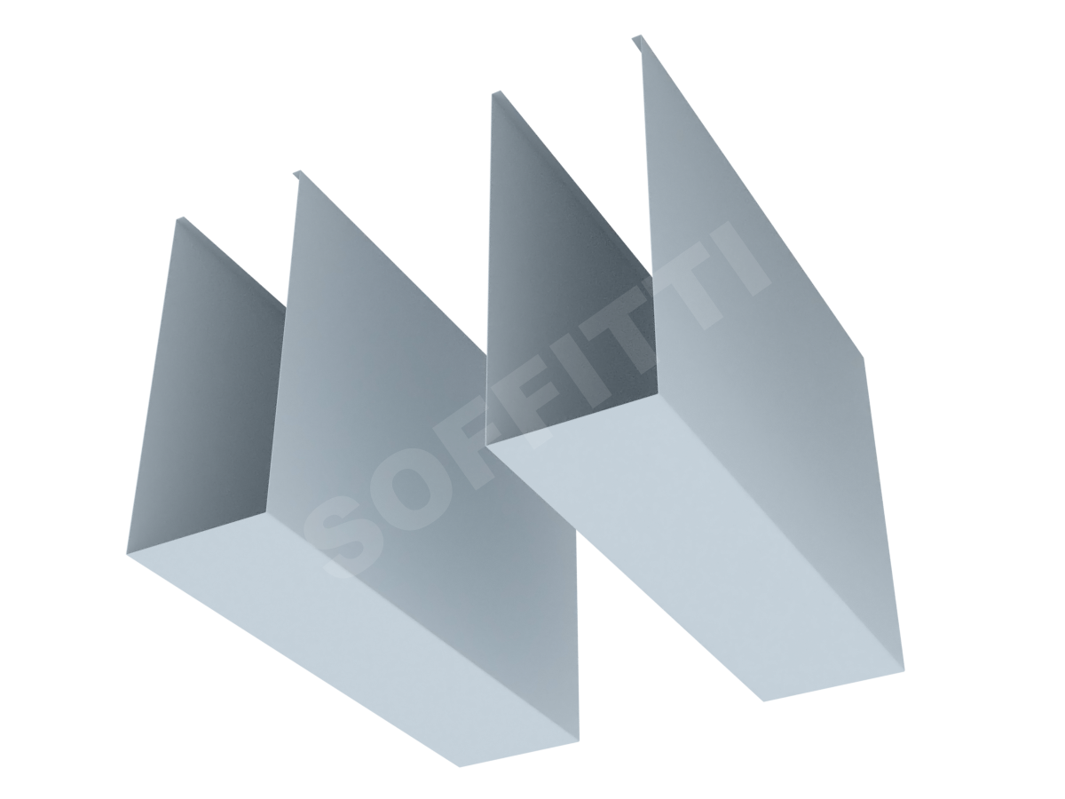 """Кубообразная рейка """"Мультикуб"""" 80x200 мм"""