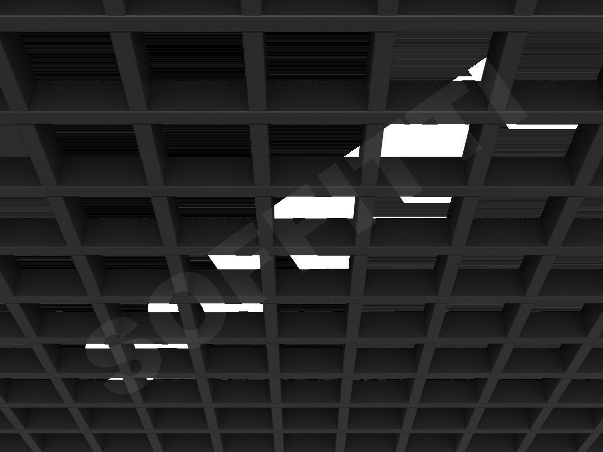 Потолок Грильято GL15 100x100 мм черный