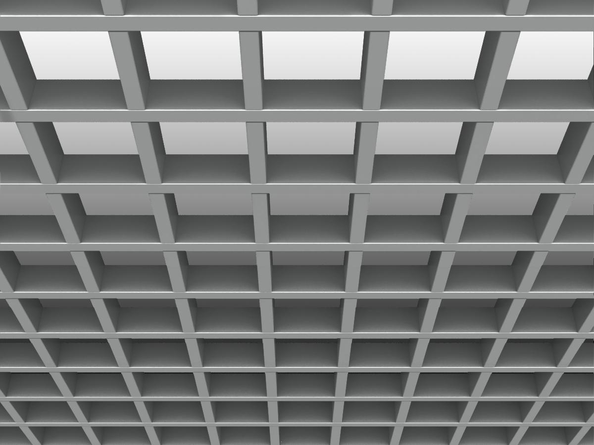 Грильято GL15 100х100 мм h47 серебристый (оцин. сталь)