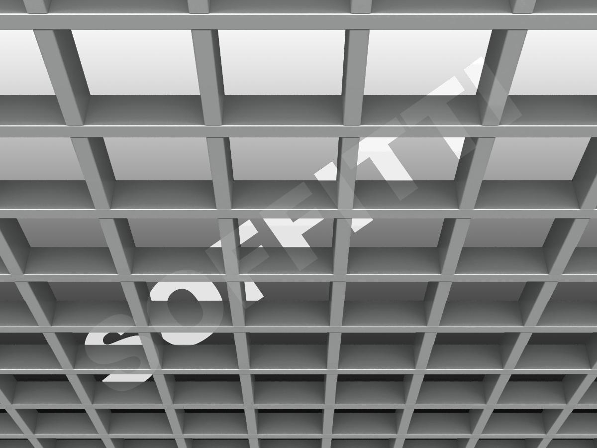 Потолок Грильято GL15 120x120 мм серебристый