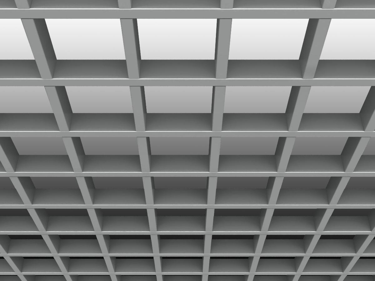 Грильято GL15 120х120 мм h47 серебристый (оцин. сталь)