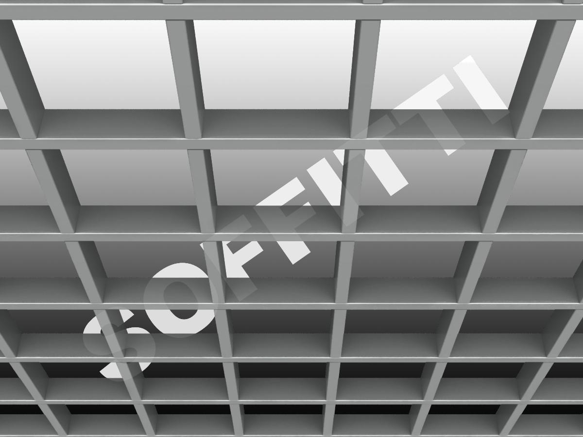 Грильято GL15 150х150 мм h37 серебристый (оцин. сталь)
