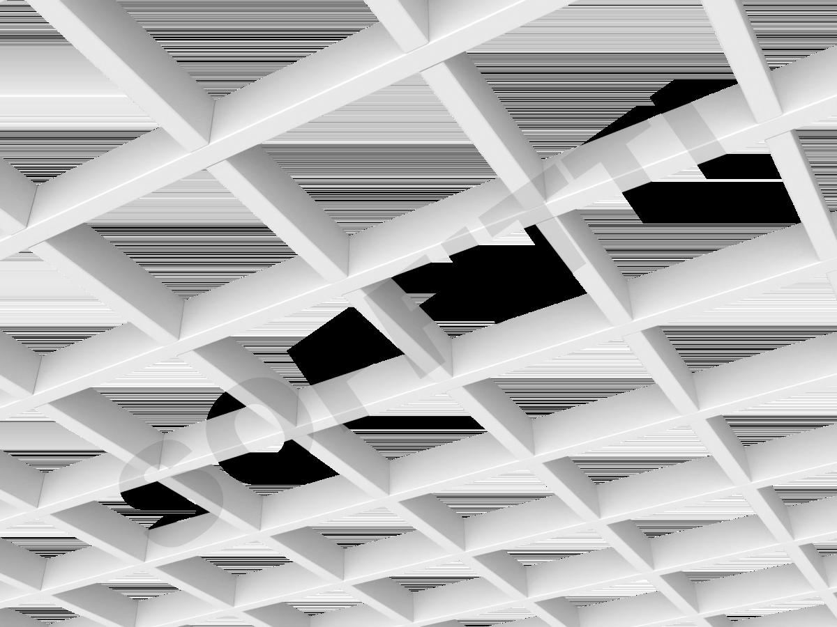 Потолок Грильято GL15 150x150 мм белый