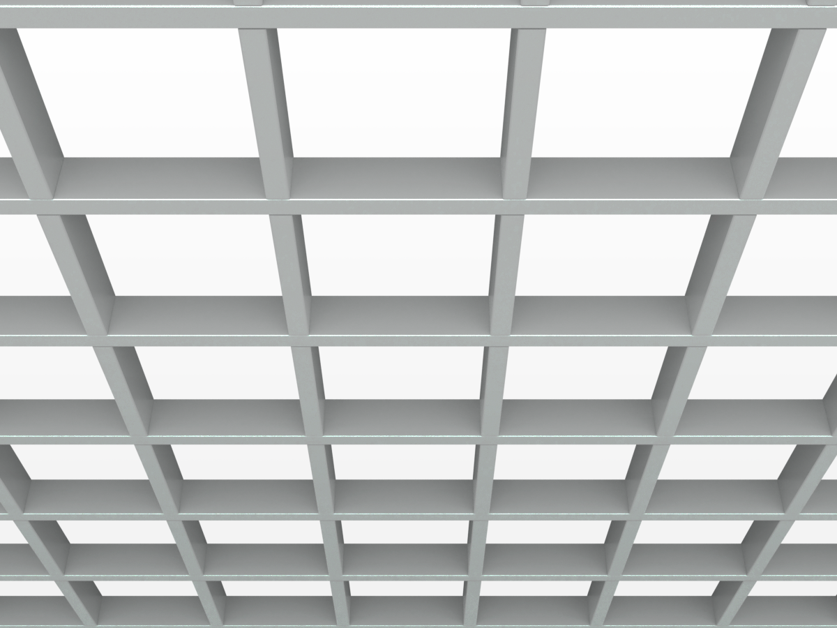 Грильято GL15 150х150 мм h47 серый (оцин. сталь)