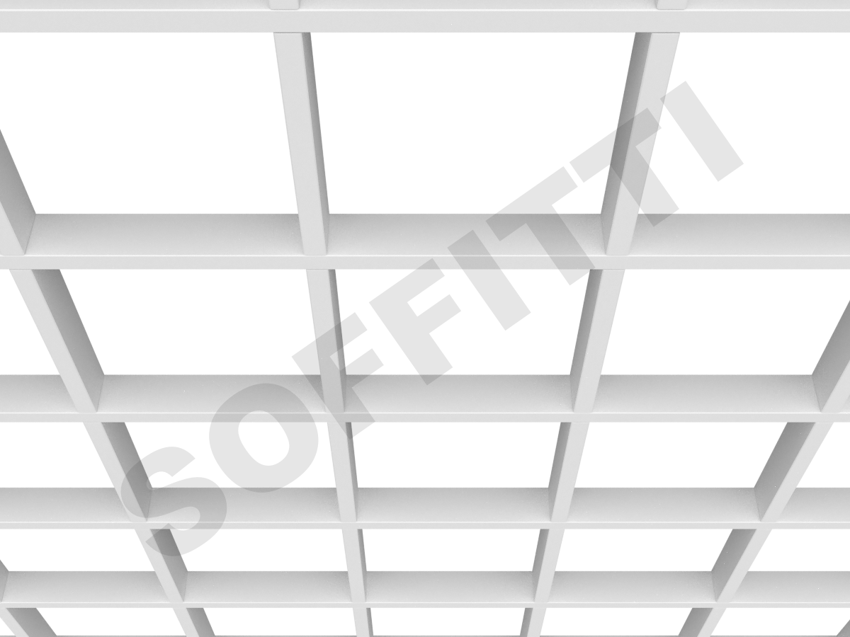 Потолок Грильято GL15 200x200 мм белый