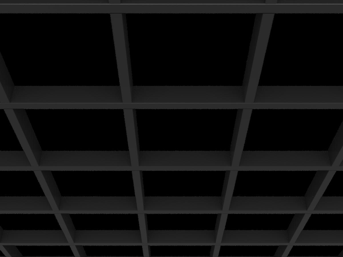Грильято GL15 200х200 мм h47 черный (оцин. сталь)