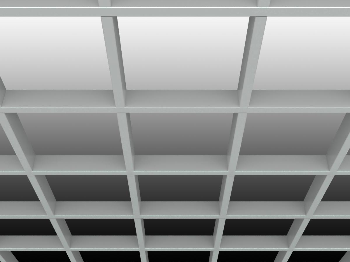 Грильято GL15 200х200 мм h47 серый (оцин. сталь)