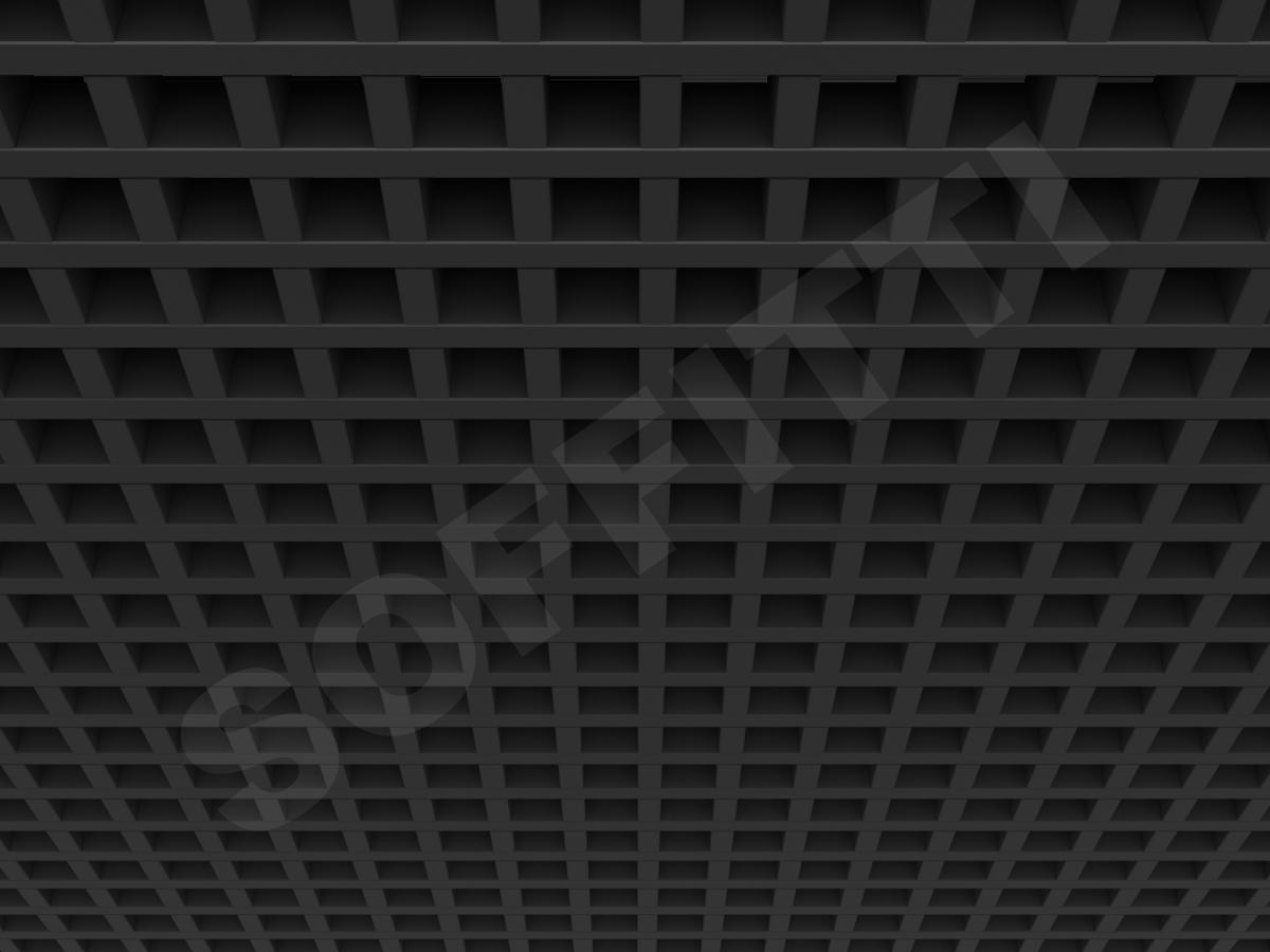 Потолок Грильято GL15 50x50 мм черный