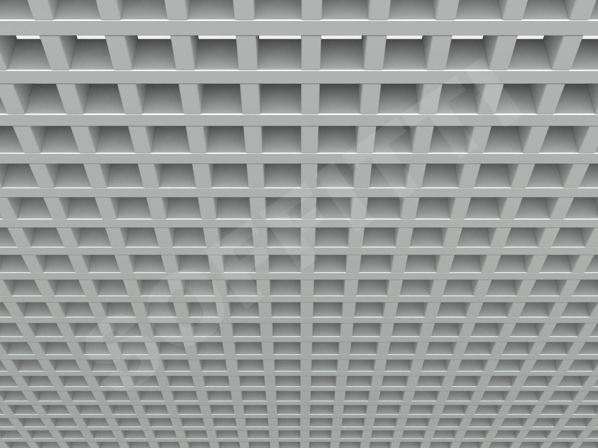Потолок Грильято GL15 50x50 мм серый