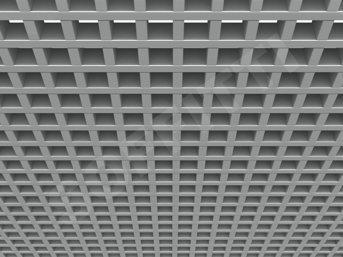 Потолок Грильято GL15 50x50 мм серебристый