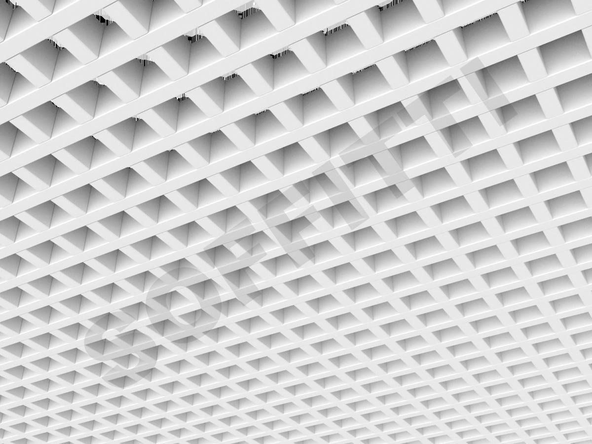 Потолок Грильято GL15 50x50 мм белый