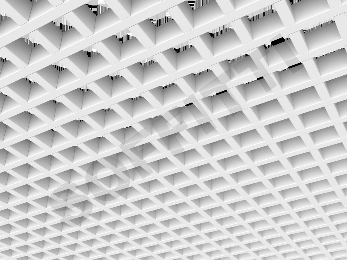 Потолок Грильято GL15 60x60 мм белый