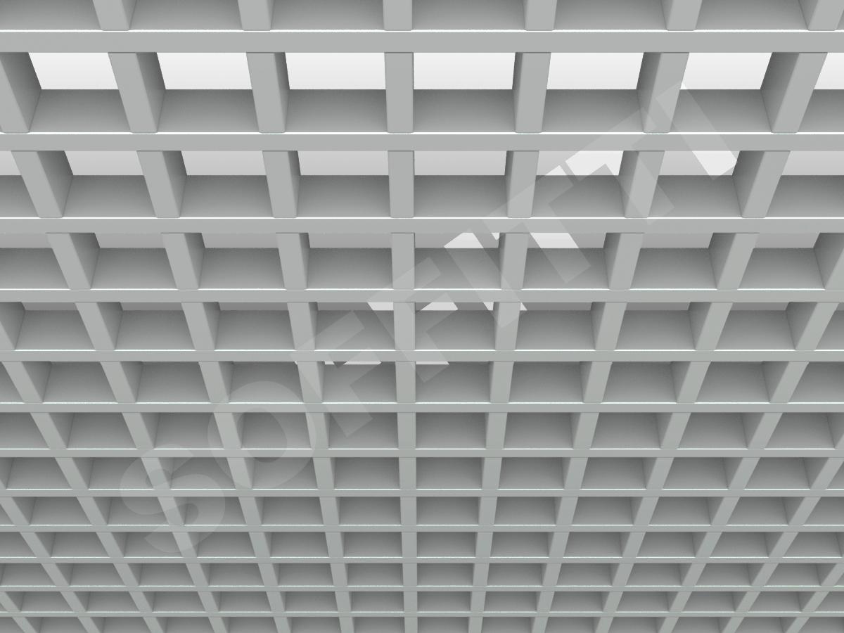 Потолок Грильято GL15 75x75 мм серый