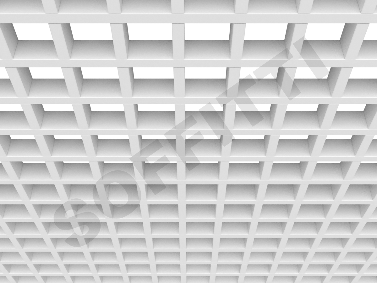 Потолок Грильято GL15 75x75 мм белый