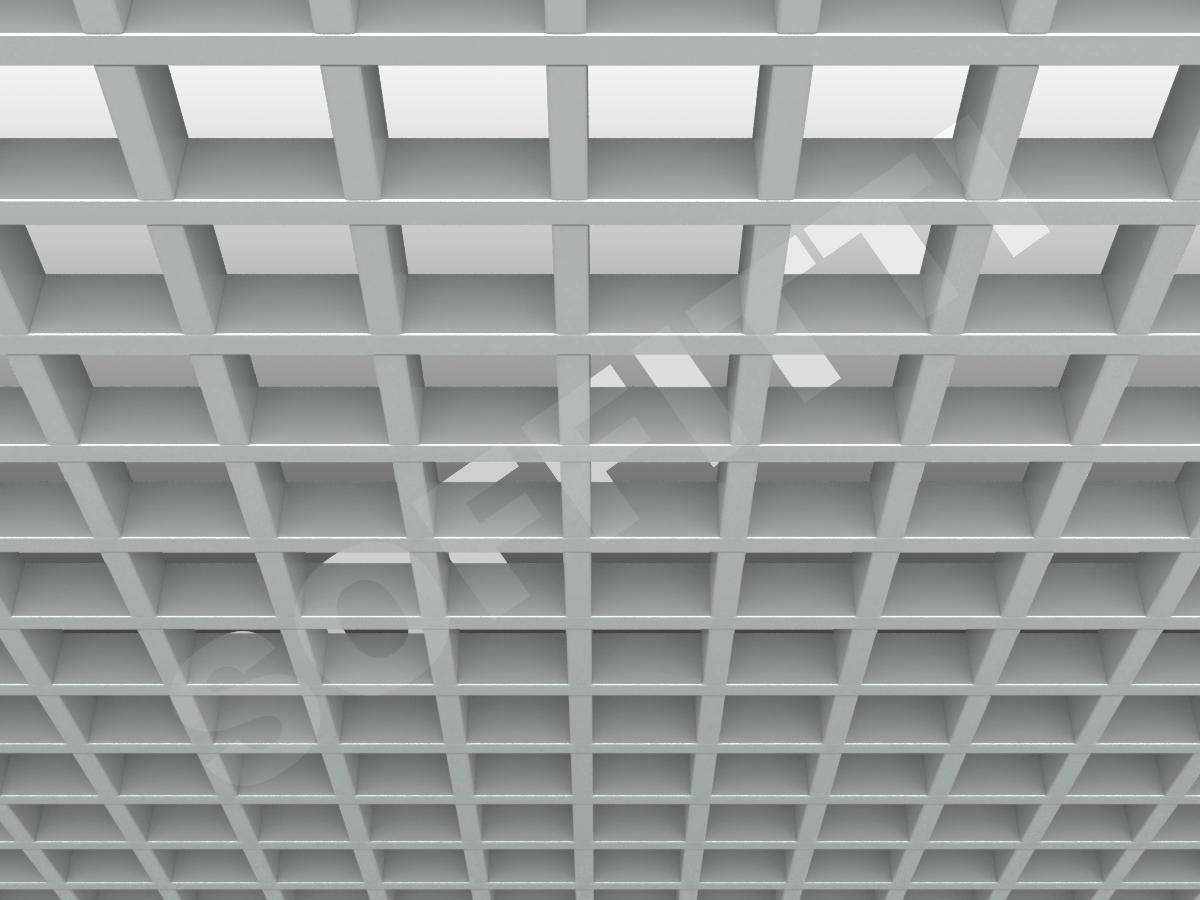 Потолок Грильято GL15 86x86 мм серый