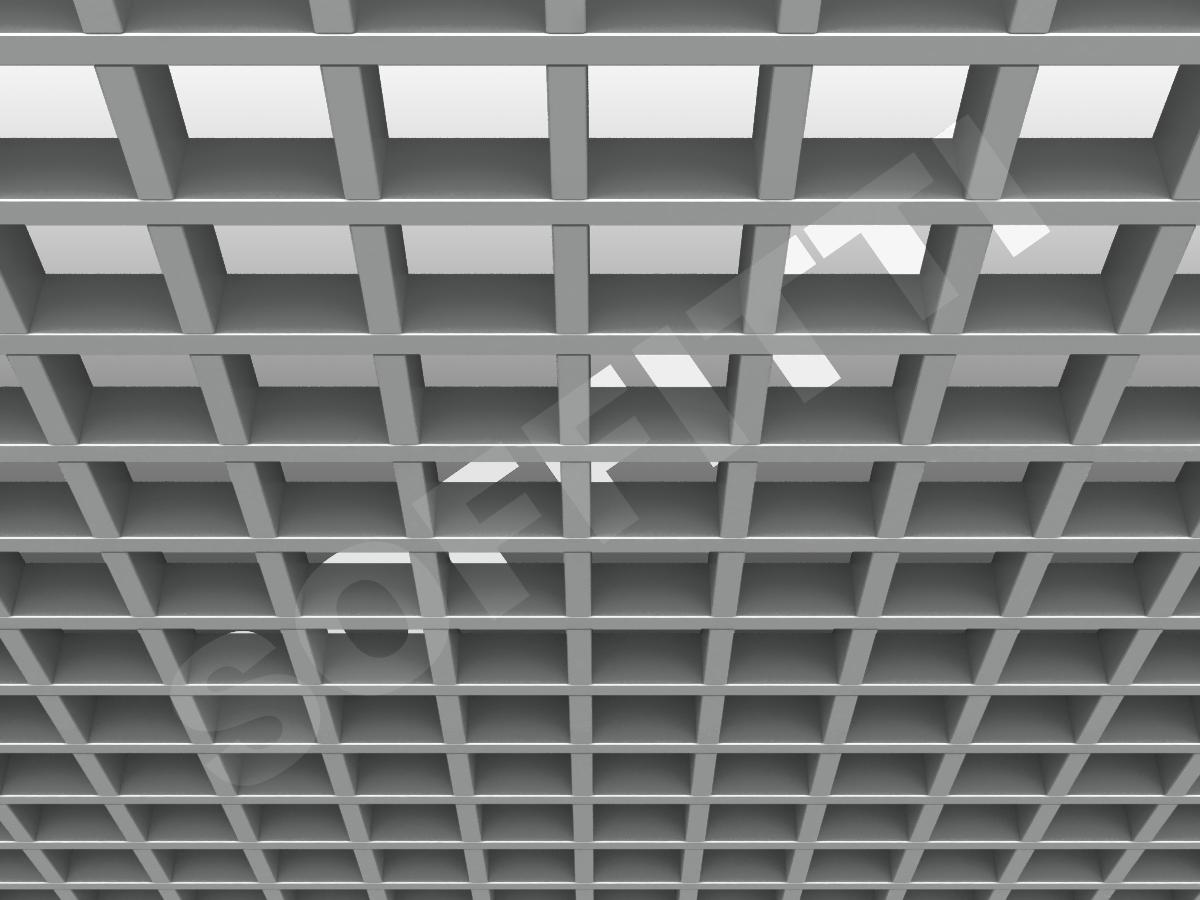 Потолок Грильято GL15 86x86 мм серебристый
