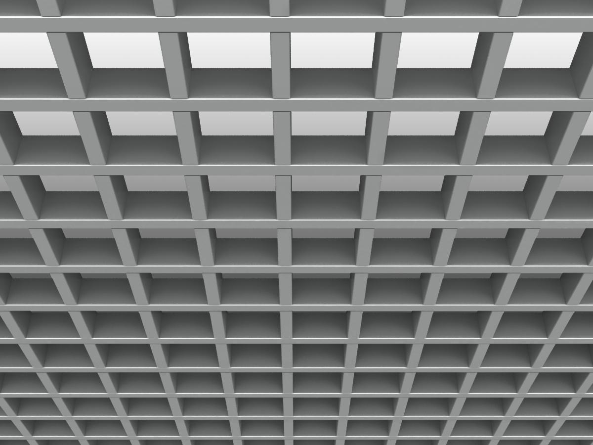 Грильято GL15 86х86 мм h47 серебристый
