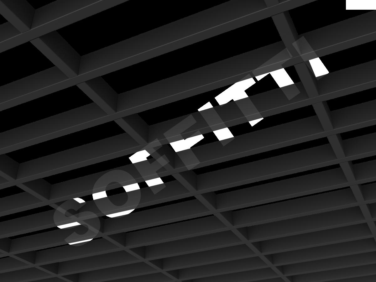 Грильято GL15-жалюзи 300х100 мм h37 черный