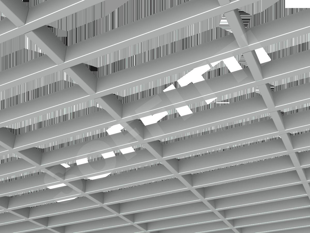 Грильято GL15-жалюзи 300х100 мм h37 серый
