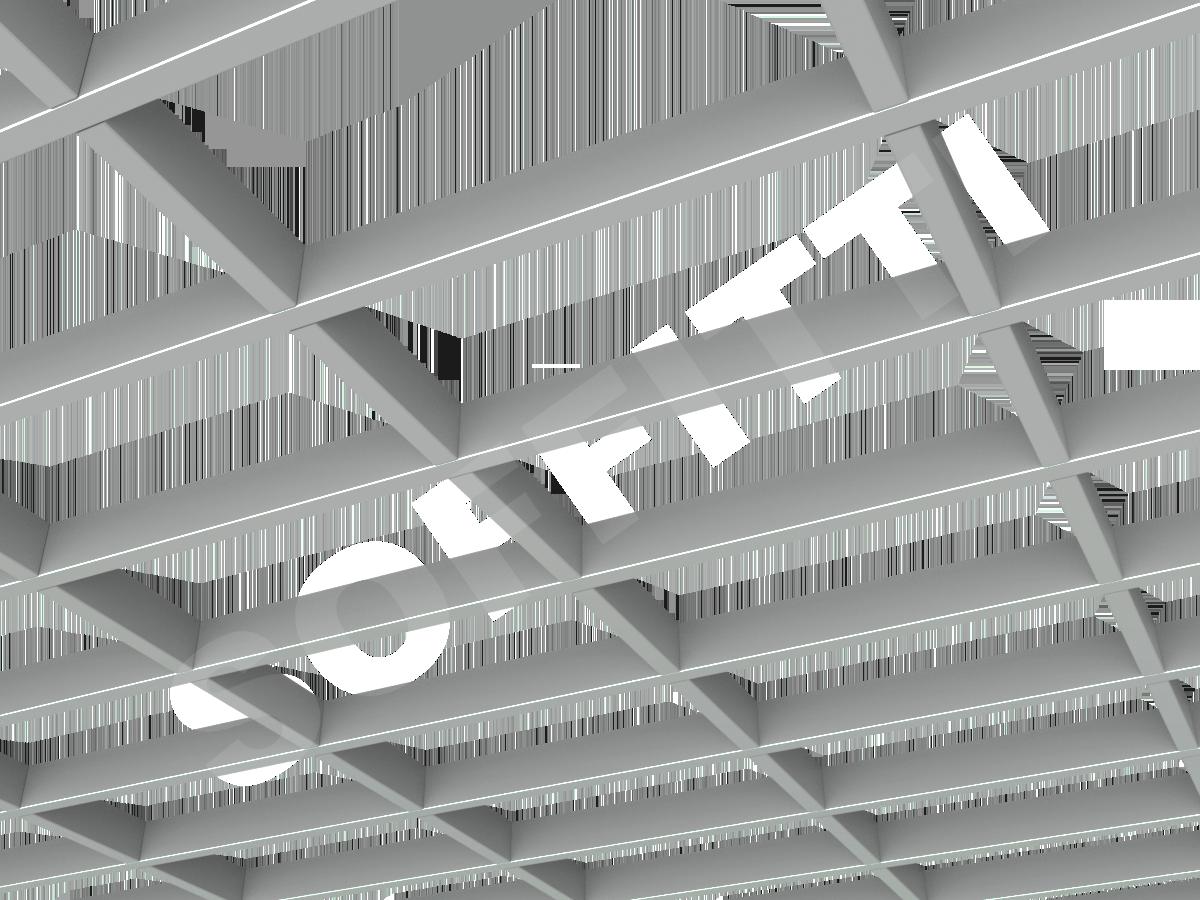 Грильято GL15-жалюзи 300х150 мм h37 серый (оцин. сталь)