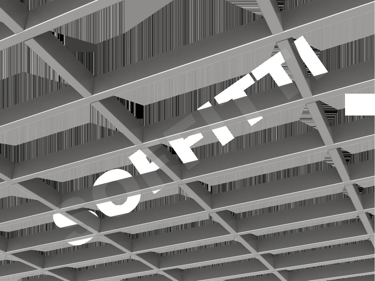 Потолок Грильято GL15-жалюзи 300x150 мм серебристый