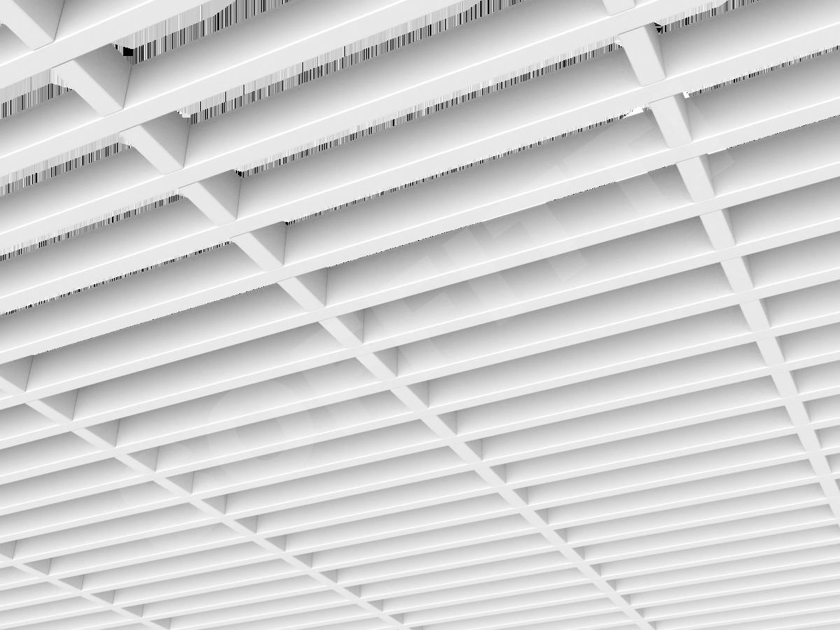 Потолок Грильято GL15-жалюзи 300x60 мм белый