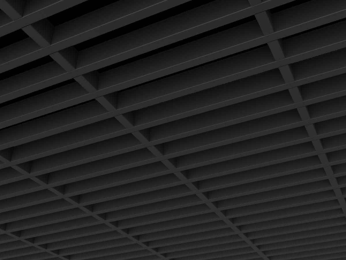 Грильято GL15-жалюзи 300х60 мм h47 черный (оцин. сталь)