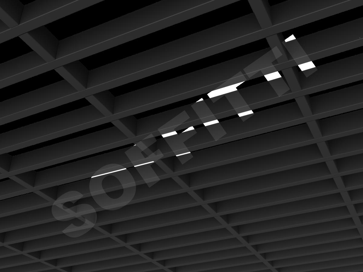 Грильято GL15-жалюзи 300х75 мм h37 черный (оцин. сталь)