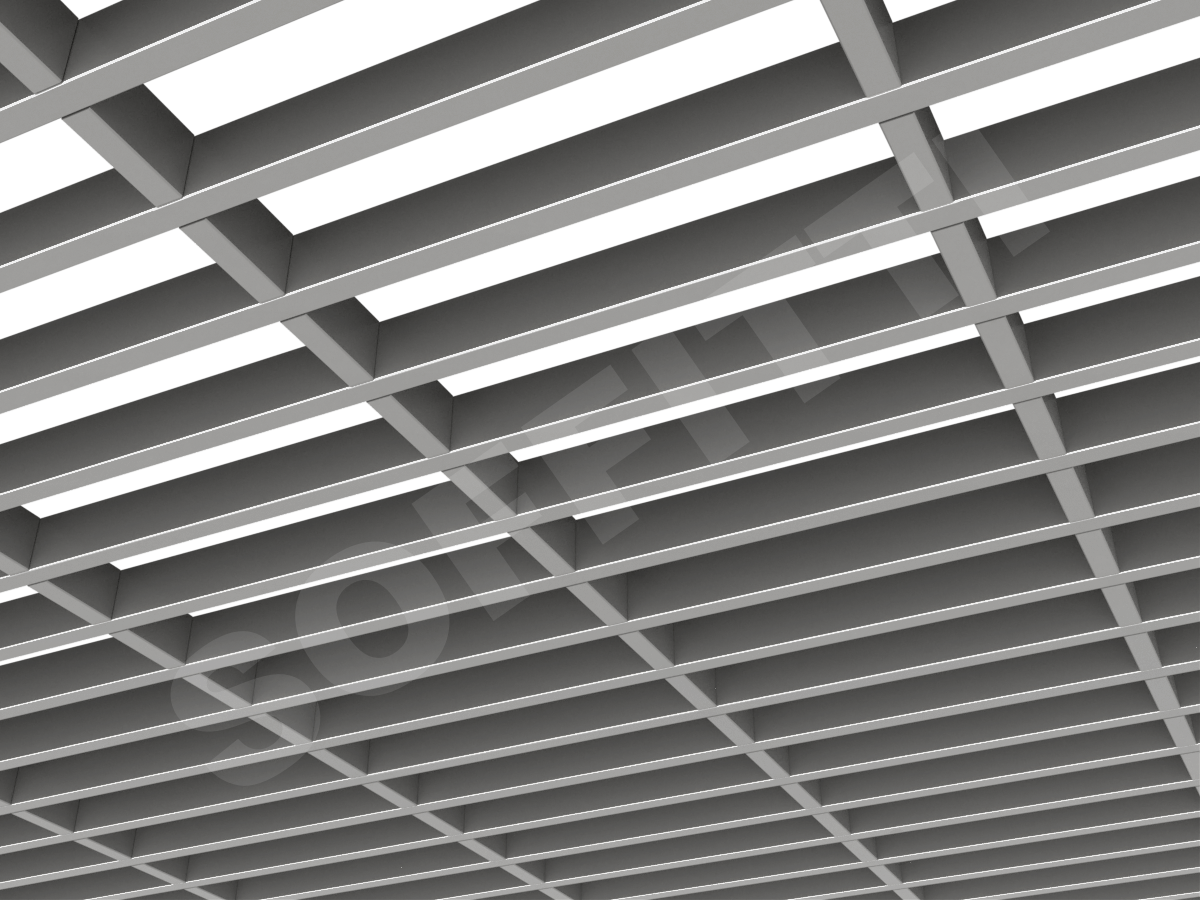 Грильято GL15-жалюзи 300х75 мм h37 серебристый (оцин. сталь)
