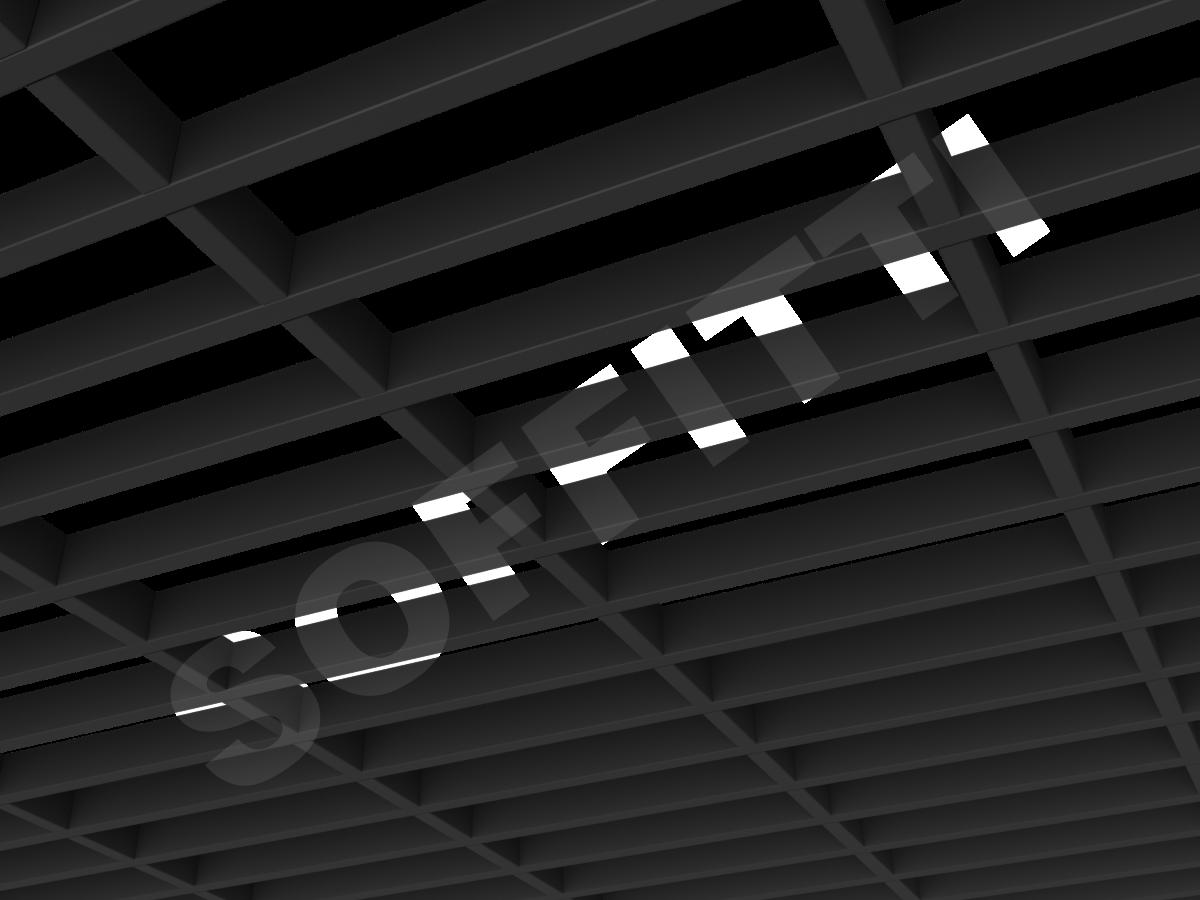 Потолок Грильято GL15-жалюзи 300x86 мм черный