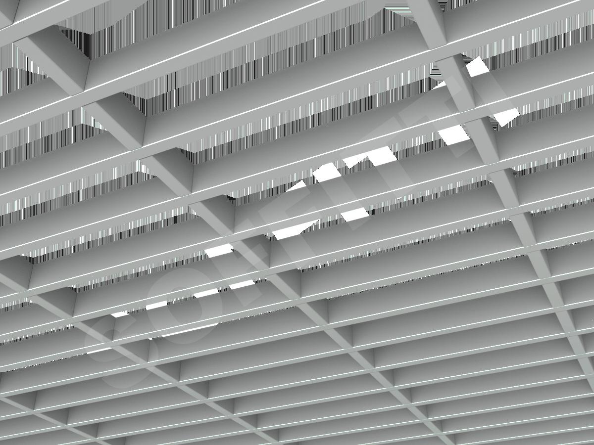 Потолок Грильято GL15-жалюзи 300x86 мм серый