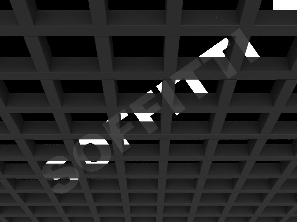 Потолок Грильято GL24 120x120 мм черный