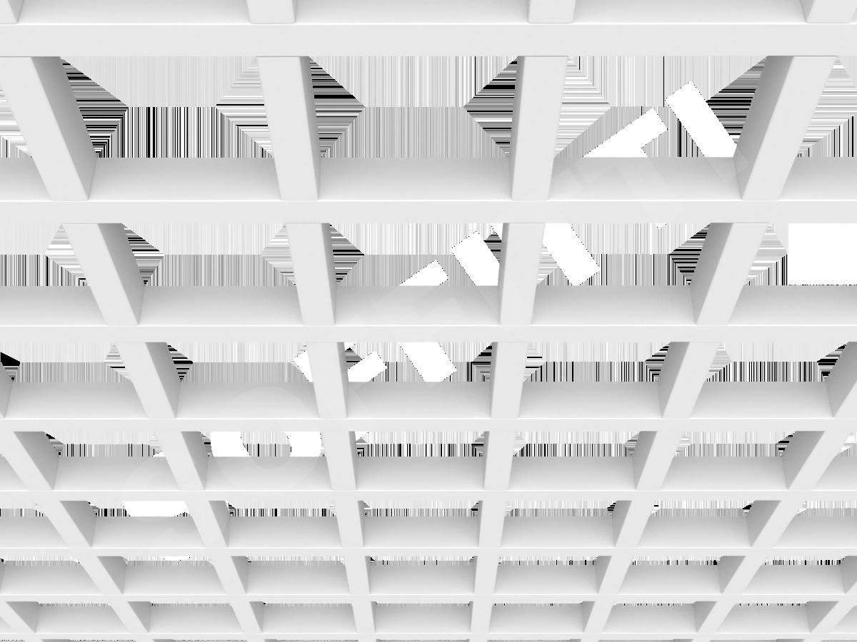 Потолок Грильято GL24 150x150 мм белый