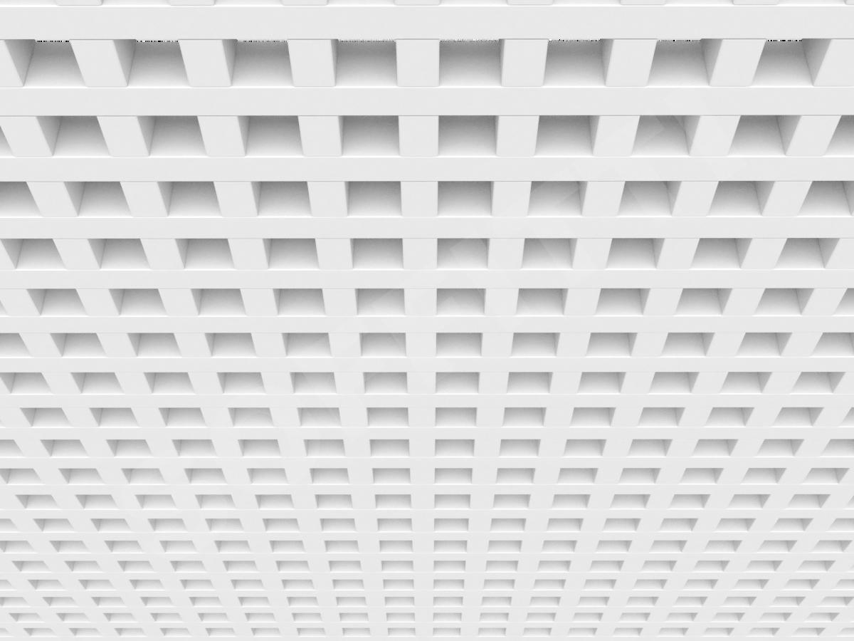 Потолок Грильято GL24 60x60 мм белый