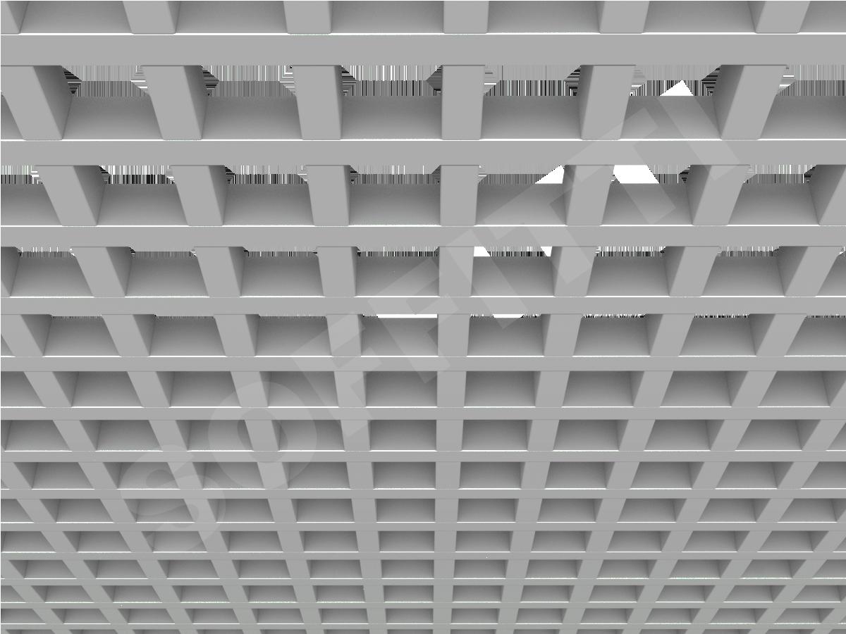 Потолок Грильято GL24 86x86 мм серый