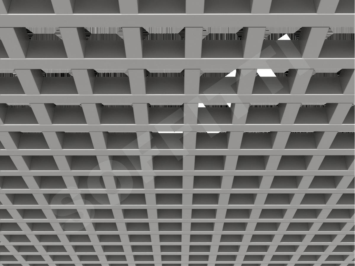 Потолок Грильято GL24 86x86 мм серебристый