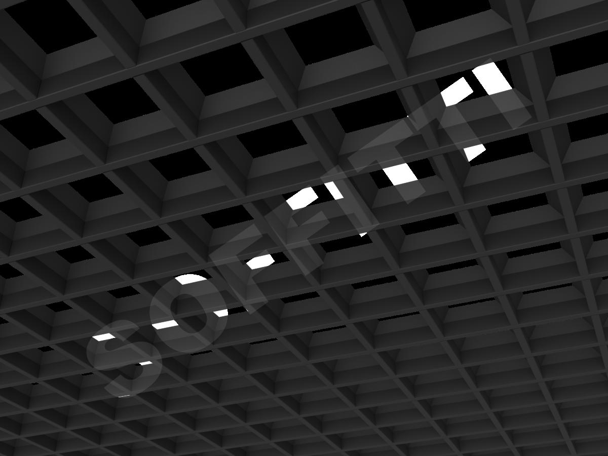 Потолок Грильято пирамидальное 100x100 мм черный