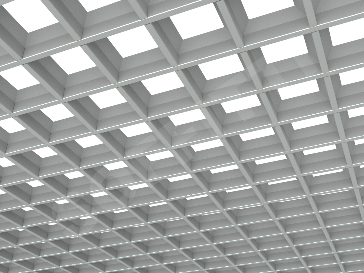 Грильято пирамидальное 100x100 мм h35 серый