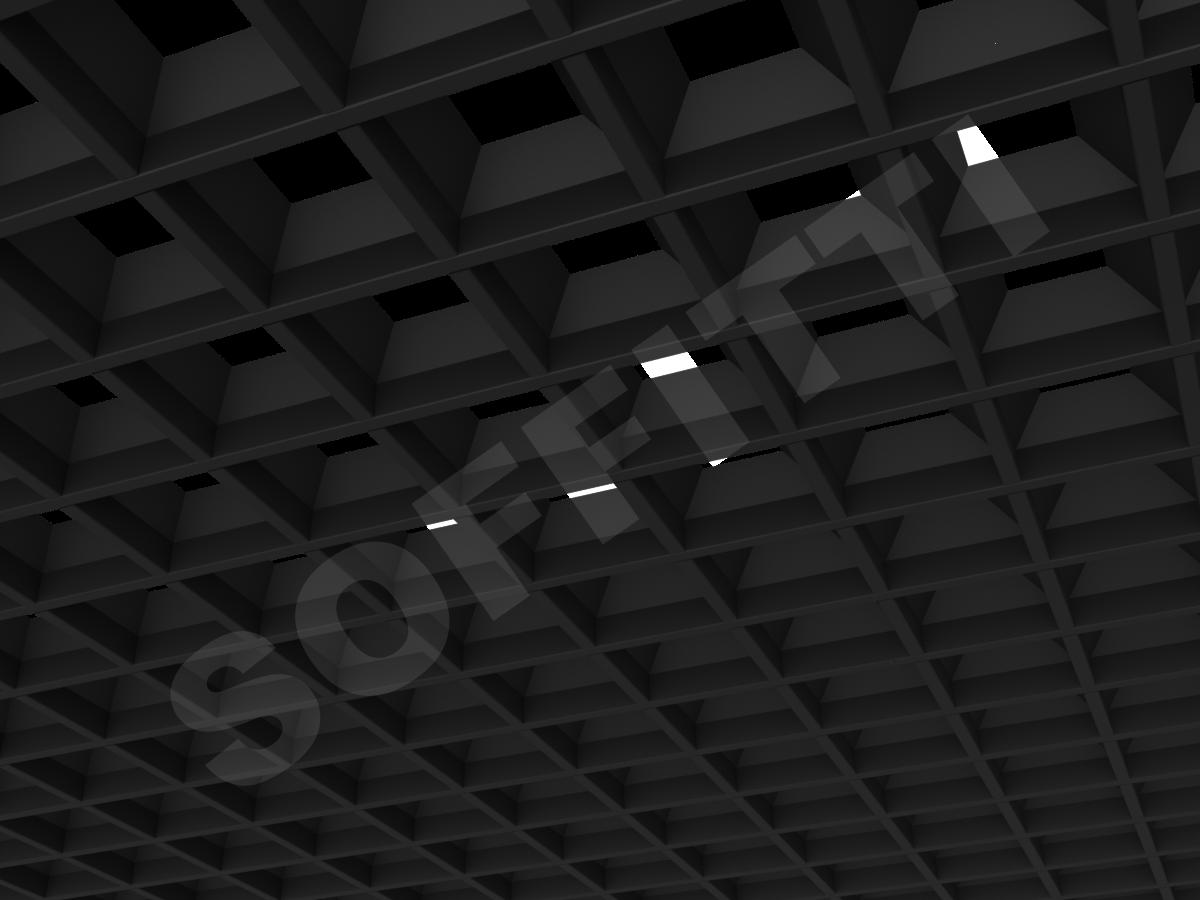 Грильято пирамидальное 100x100 мм h42,5 черный
