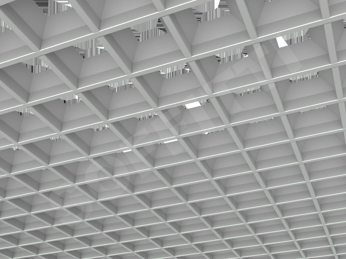 Грильято пирамидальное 100x100 мм h42,5 серый