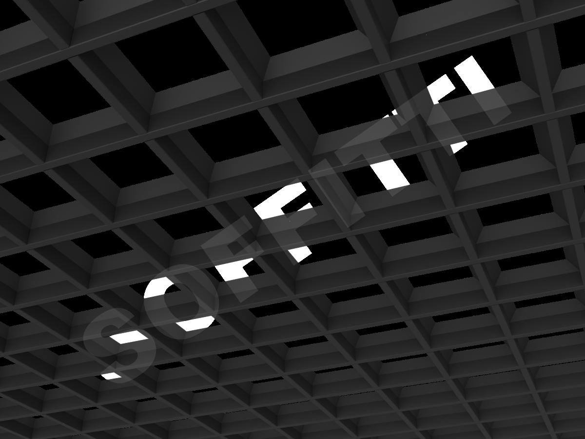 Потолок Грильято пирамидальное 120x120 мм черный