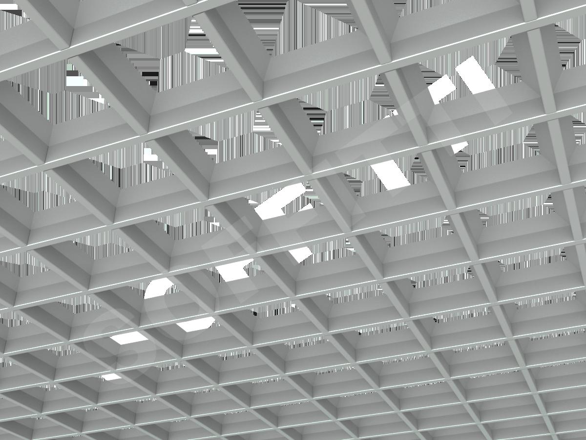 Грильято пирамидальное 120x120 мм h35 серый