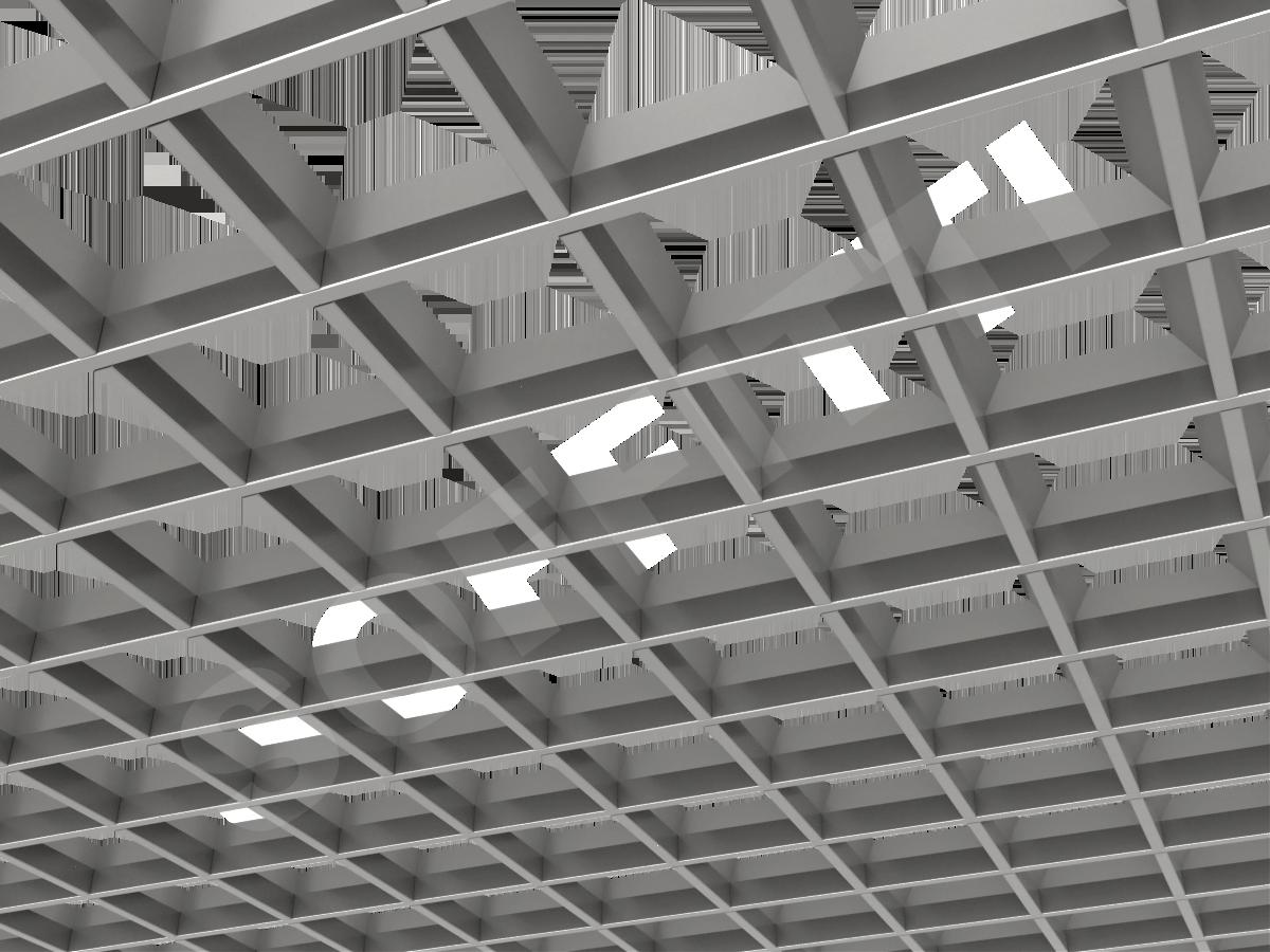 Грильято пирамидальное 120x120 мм h35 серебристый
